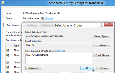 advanced-security-setting-uxtheme.dll