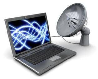 satellite-Internet-on-a-laptop